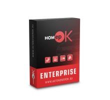 ПО для распознавания автономеров HOMEPOK Enterprise 2 канала с модулем контроля правил дорожного движения и для управления СКУД
